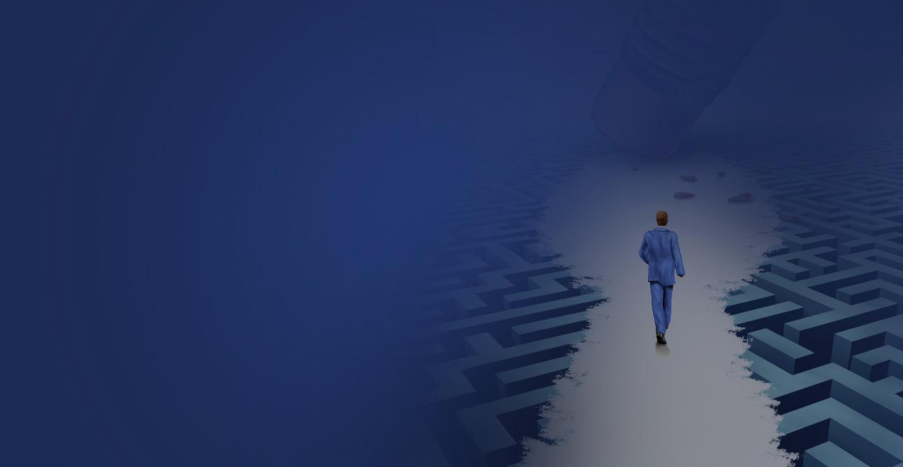 man walking through digital marketing maze