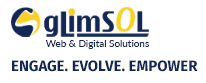 footer logo of glimsol web design company