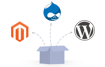 magento drupal wordpress out of the box